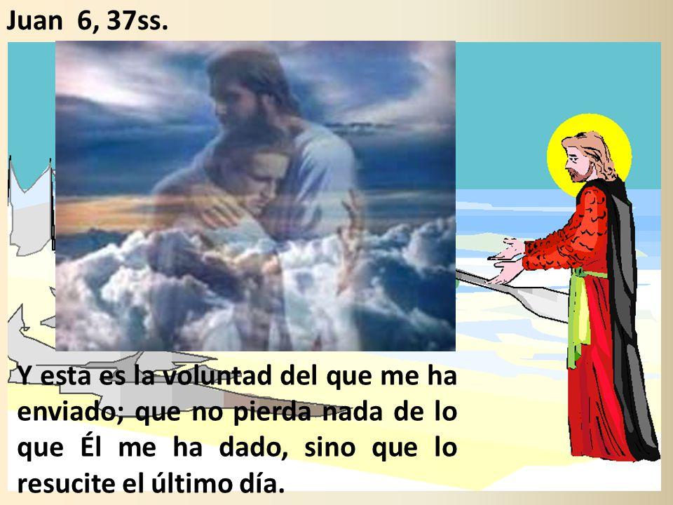 Y esta es la voluntad del que me ha enviado; que no pierda nada de lo que Él me ha dado, sino que lo resucite el último día.