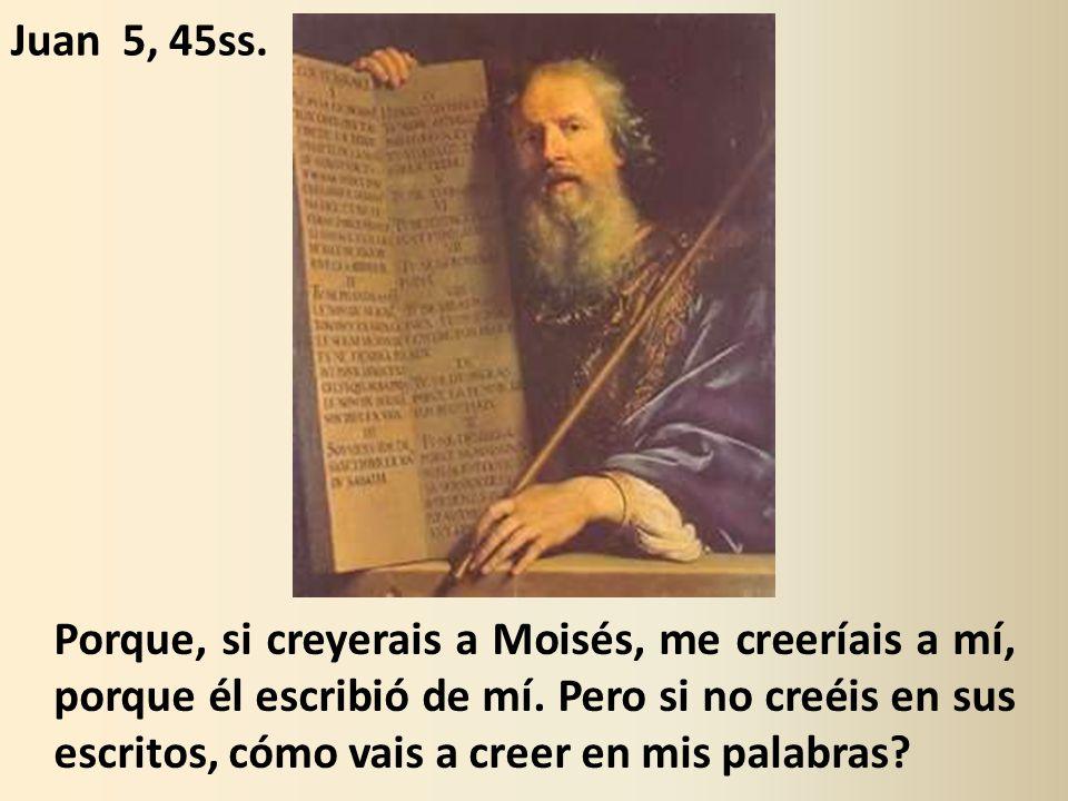 Porque, si creyerais a Moisés, me creeríais a mí, porque él escribió de mí.