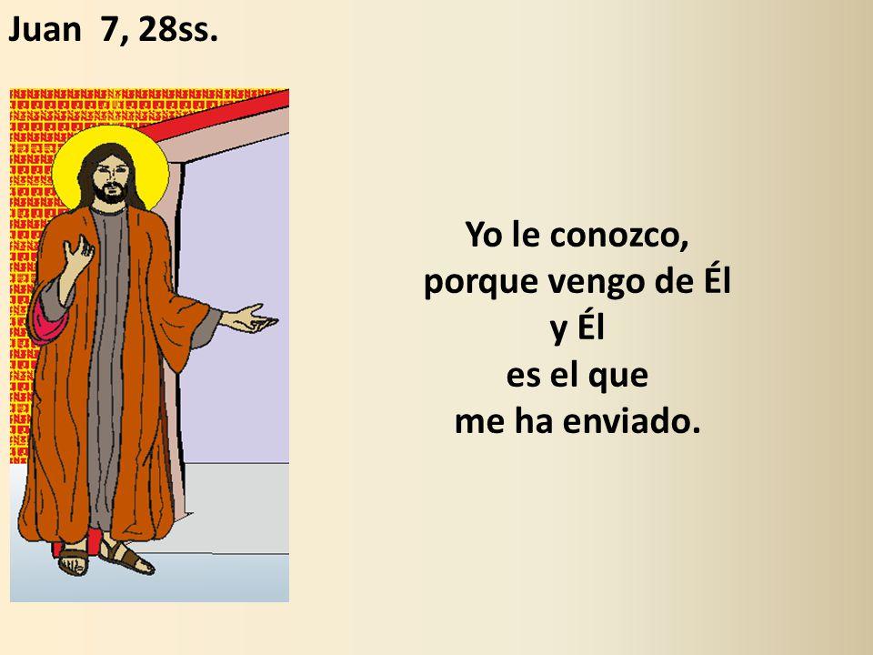 Yo le conozco, porque vengo de Él y Él es el que me ha enviado. Juan 7, 28ss.