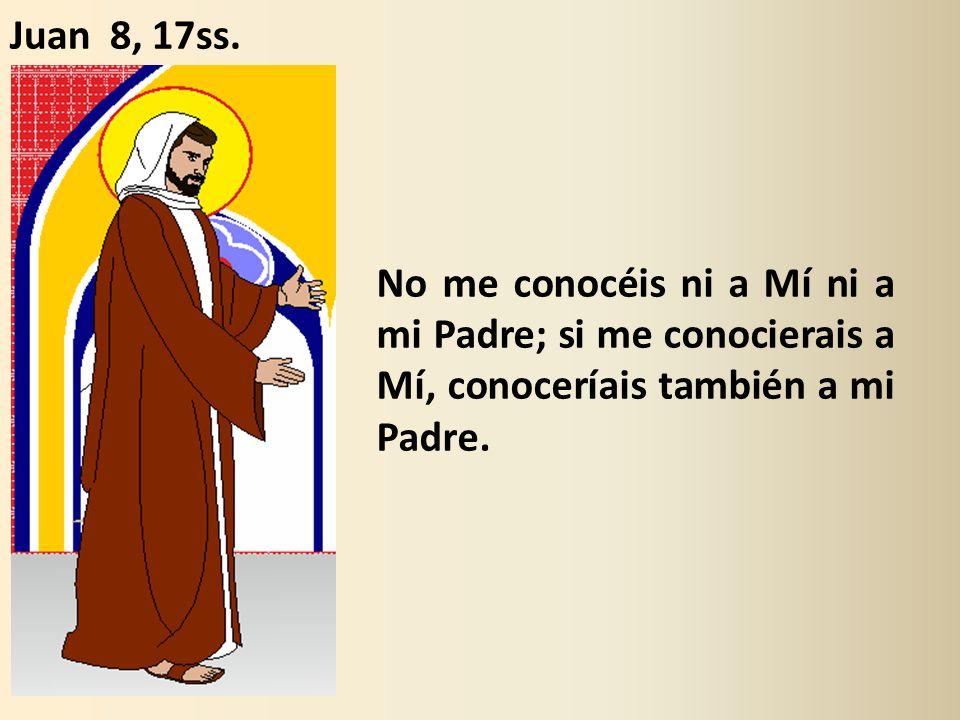 No me conocéis ni a Mí ni a mi Padre; si me conocierais a Mí, conoceríais también a mi Padre.