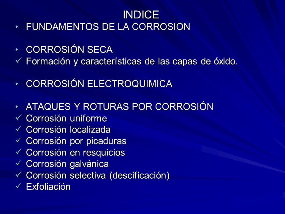 Corrosión intergranular Corrosión intergranular Corrosión bajo tensión Corrosión bajo tensión Fragilización por hidrógeno Fragilización por hidrógeno Corrosión-fatiga Corrosión-fatiga Corrosión por erosión Corrosión por erosión Corrosión por frotamiento Corrosión por frotamiento CORROSIÓN EN UNIONES SOLDADAS CORROSIÓN EN UNIONES SOLDADAS PROTECCIÓN CONTRA LA CORROSIÓN PROTECCIÓN CONTRA LA CORROSIÓN Recubrimientos Recubrimientos
