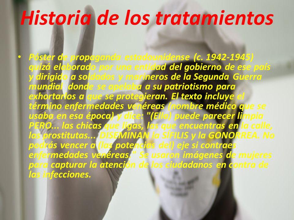 Historia de los tratamientos Póster de propaganda estadounidense (c.