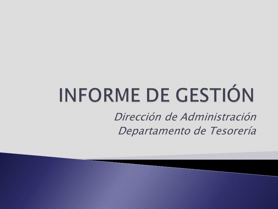 Dirección de Administración Departamento de Tesorería