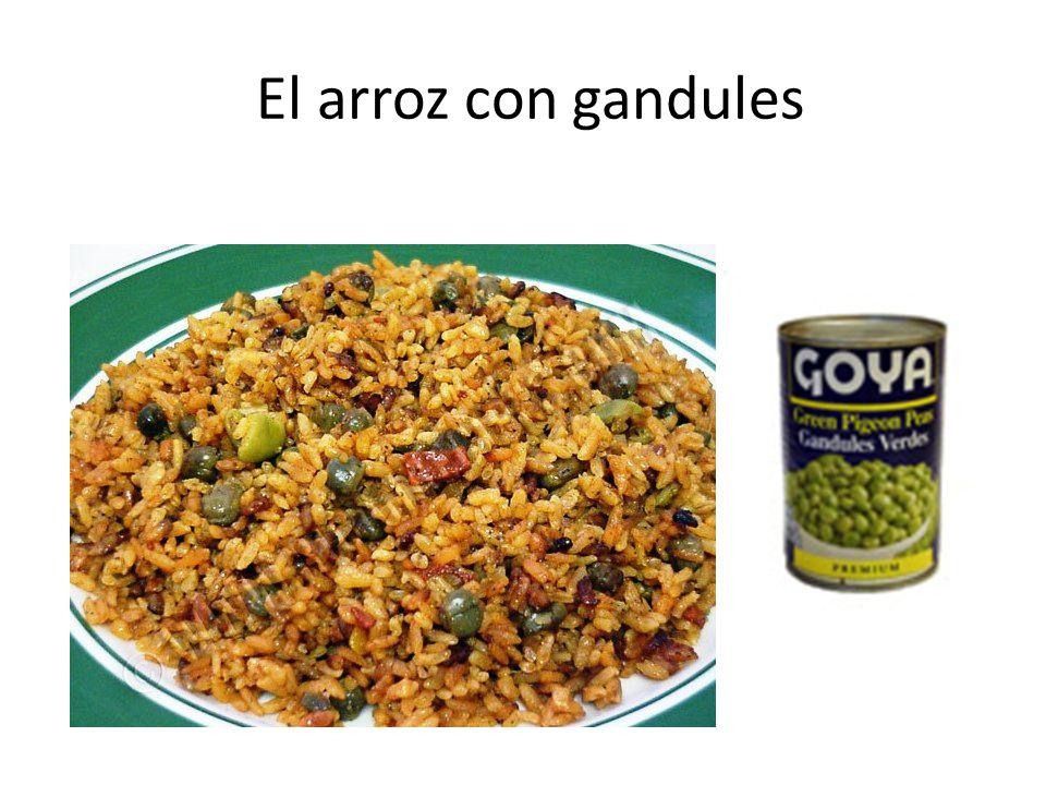 El arroz con gandules
