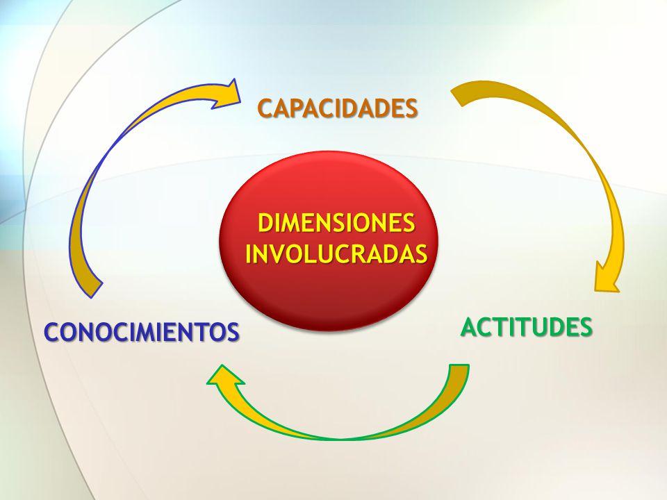 DIMENSIONES INVOLUCRADAS CAPACIDADES CONOCIMIENTOS ACTITUDES