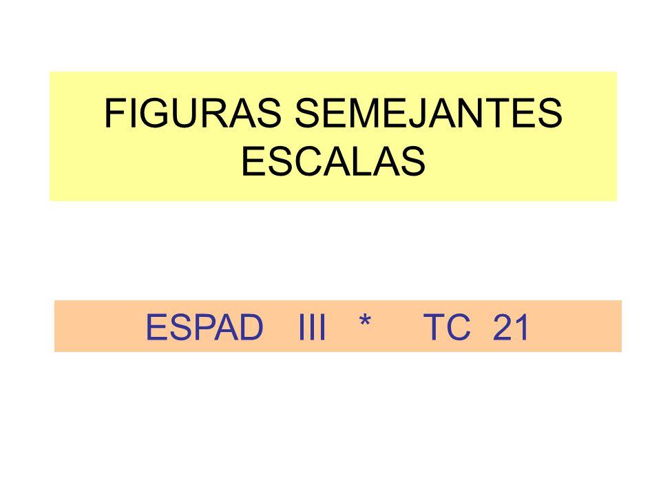 FIGURAS SEMEJANTES ESCALAS ESPAD III * TC 21