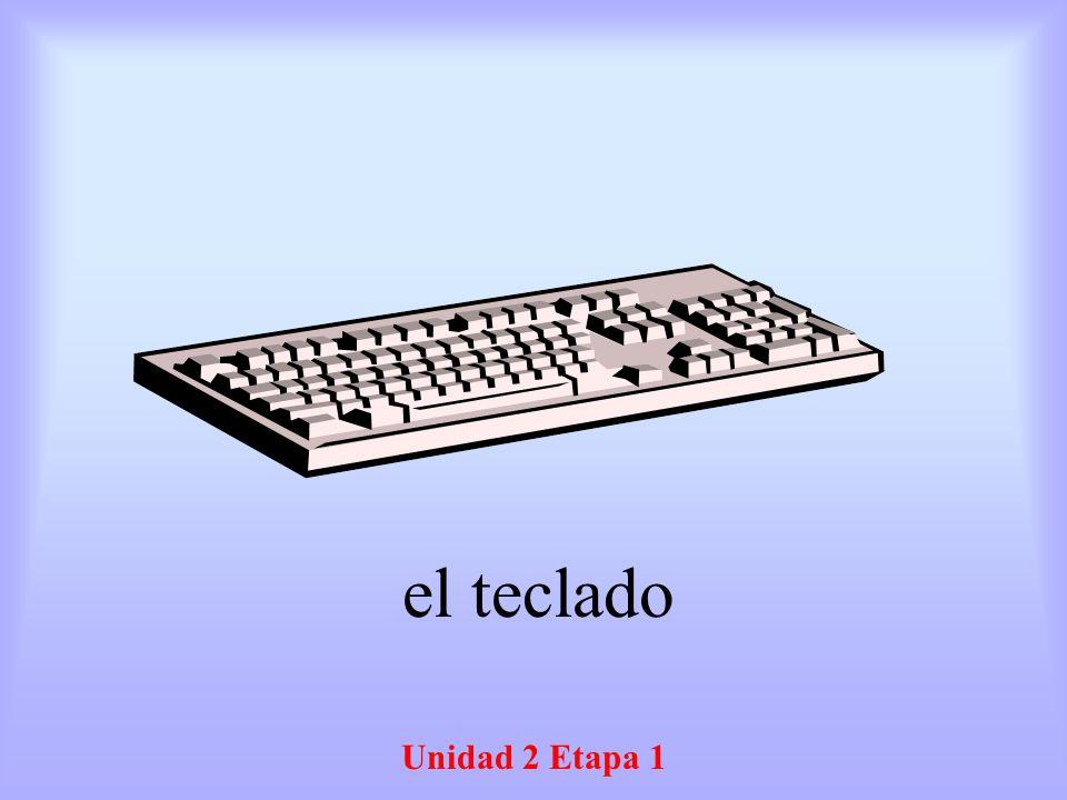 Unidad 2 Etapa 1 el teclado
