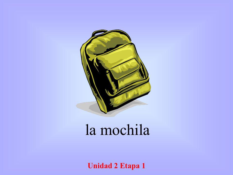 Unidad 2 Etapa 1 la mochila
