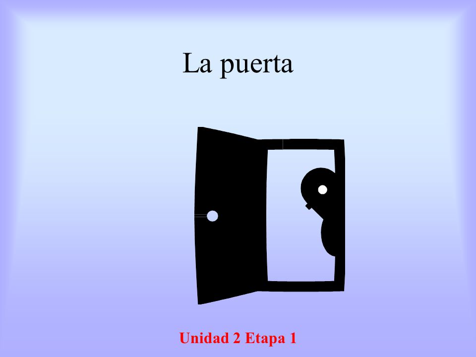 La puerta Unidad 2 Etapa 1