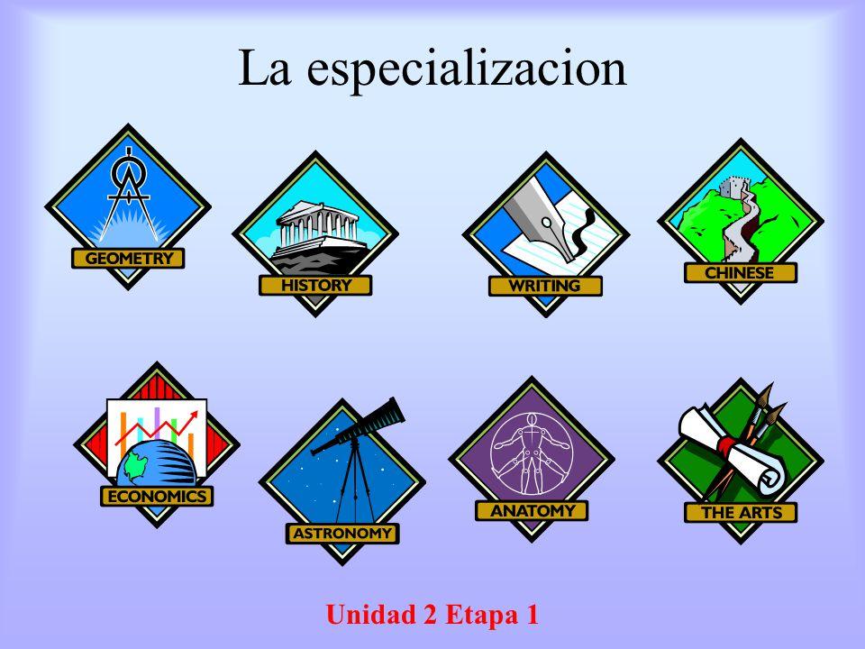 La especializacion Unidad 2 Etapa 1