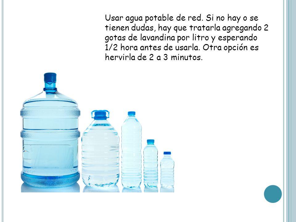 Usar agua potable de red.