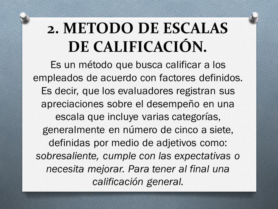 2.METODO DE ESCALAS DE CALIFICACIÓN.