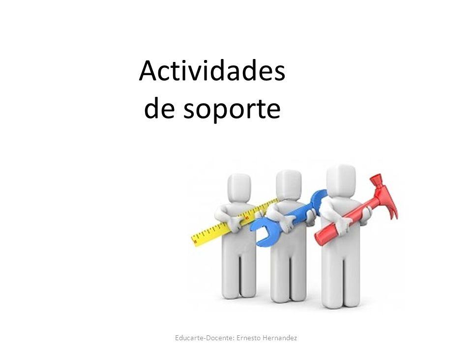Actividades de soporte Educarte-Docente: Ernesto Hernandez