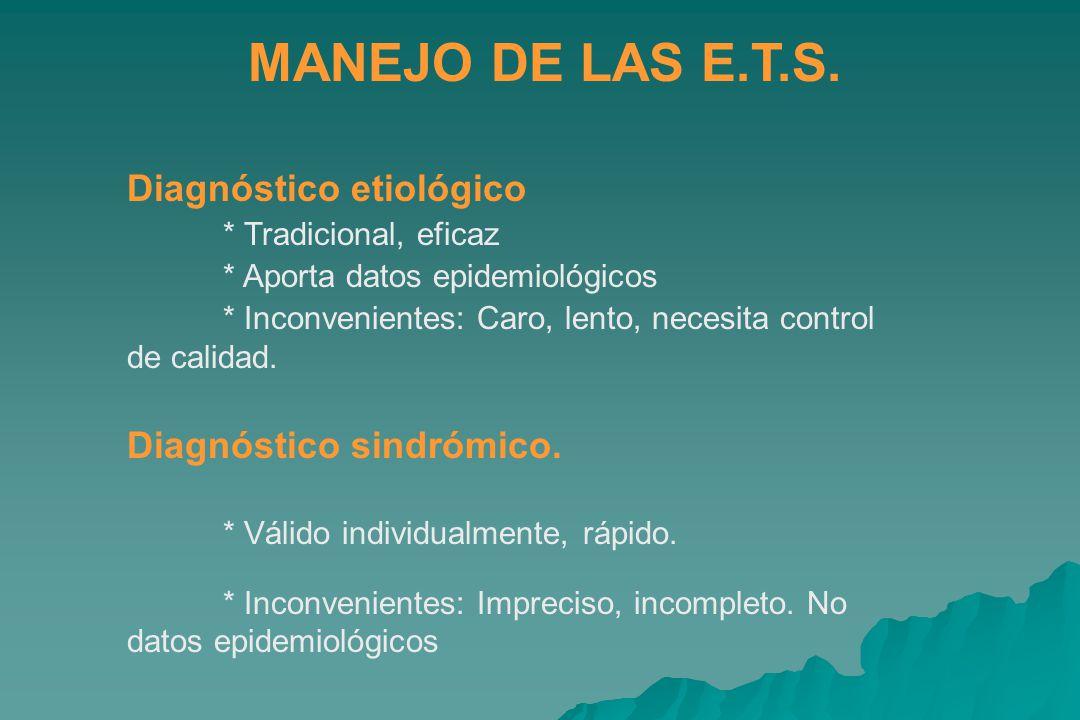 MANEJO DE LAS E.T.S.