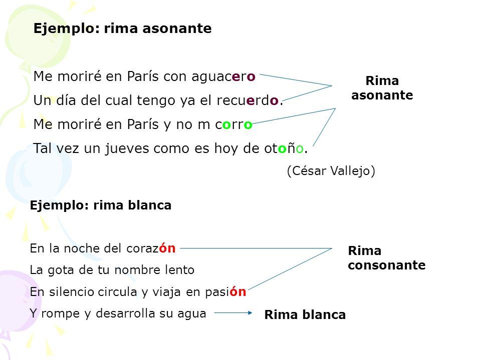 ejemplo rima asonante: