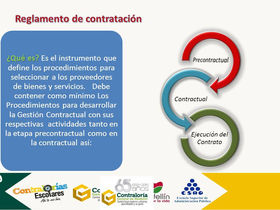 ¿Qué es? ¿Qué es? Es el instrumento que define los procedimientos para seleccionar a los proveedores de bienes y servicios. Debe contener como mínimo