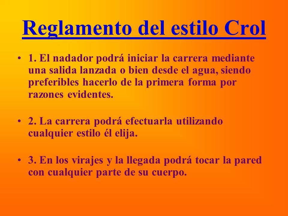 Reglamento del estilo Crol 1.