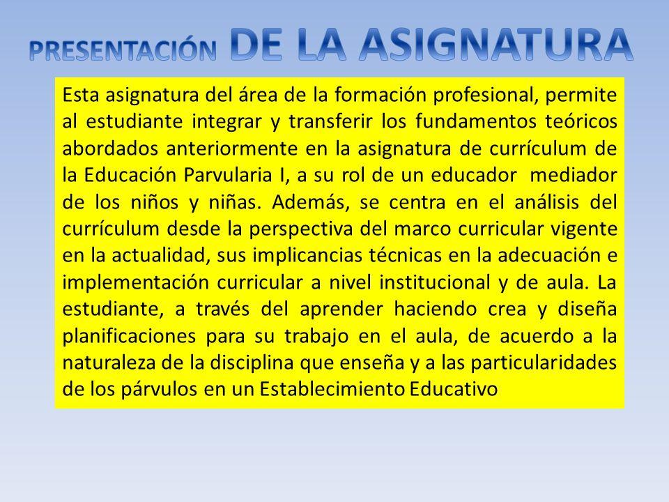 Esta asignatura del área de la formación profesional, permite al estudiante integrar y transferir los fundamentos teóricos abordados anteriormente en