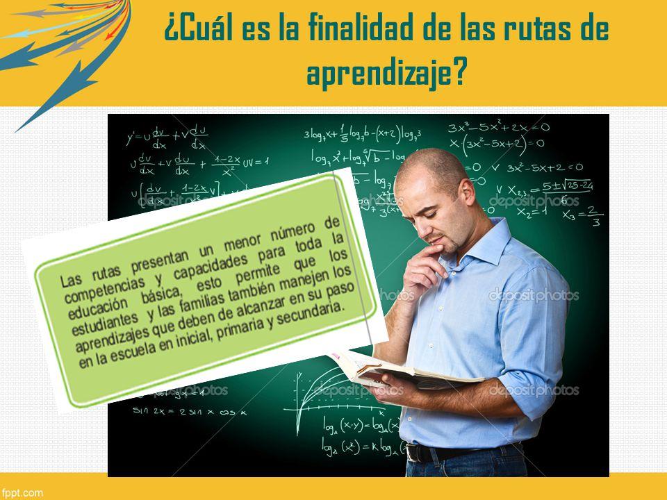 ¿Cuál es la finalidad de las rutas de aprendizaje?