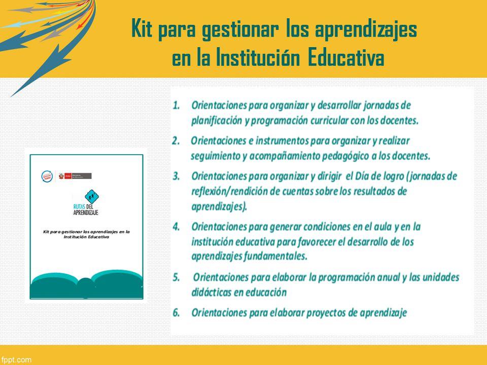 Kit para gestionar los aprendizajes en la Institución Educativa