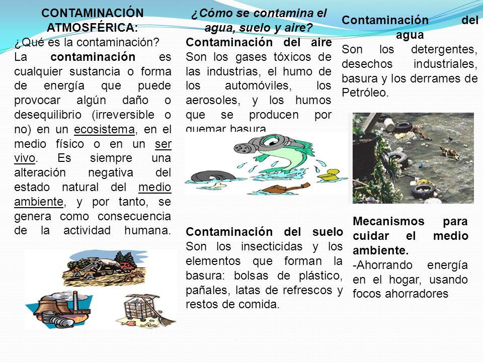 CONTAMINACIÓN ATMOSFÉRICA: ¿Qué es la contaminación.