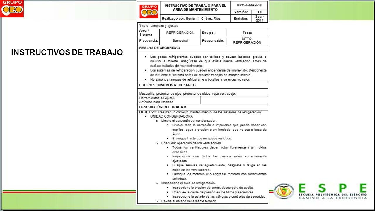 INSTRUCTIVOS DE TRABAJO