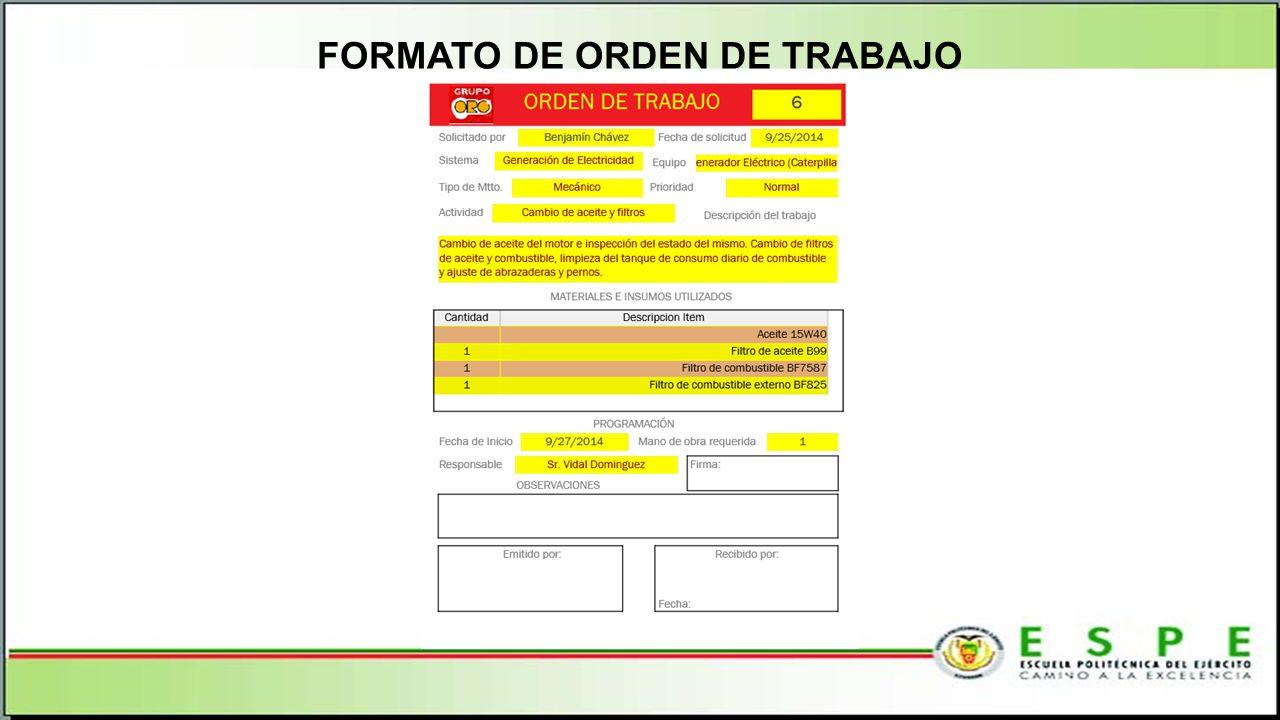 FORMATO DE ORDEN DE TRABAJO