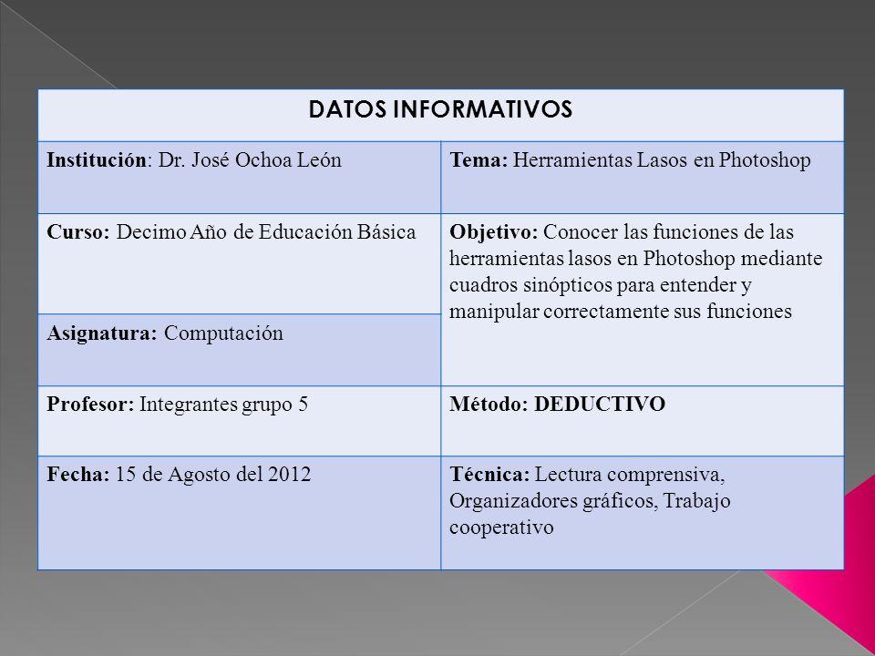 DATOS INFORMATIVOS Institución: Dr.