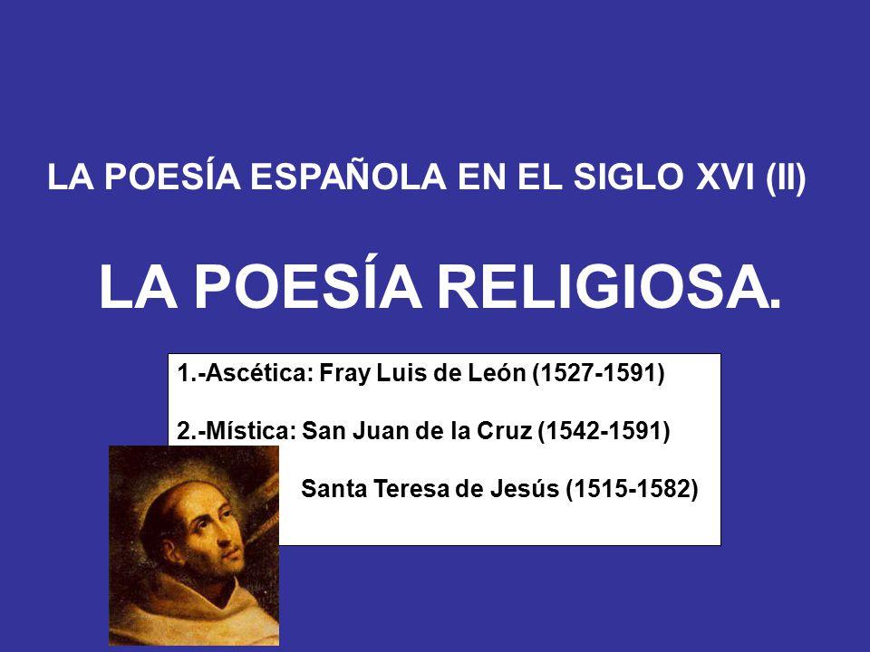 """La presentaci�n """"LA POES�A ESPA�OLA EN EL SIGLO XVI (II) LA POES�A ..."""