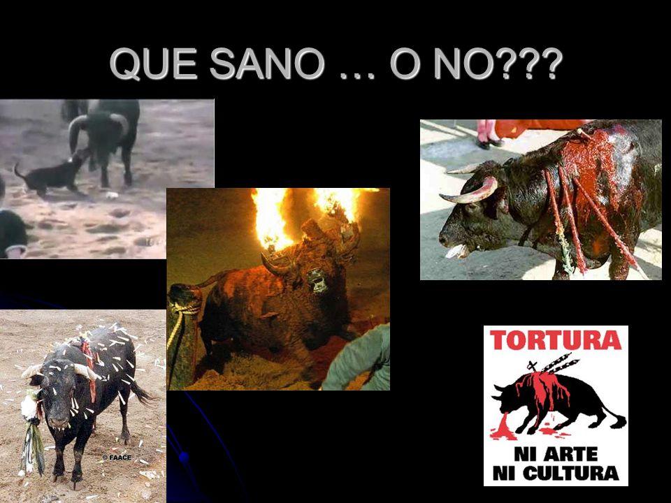 QUE SANO … O NO