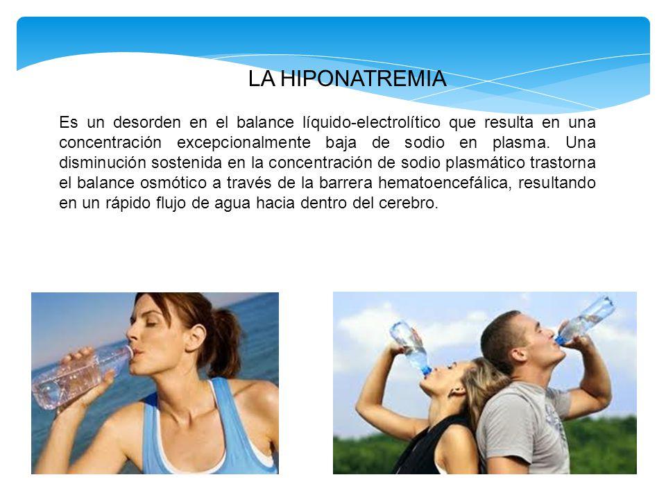  La disminución del líquido extracelular produce un incremento en la secreción de vasopresina y en la sed.