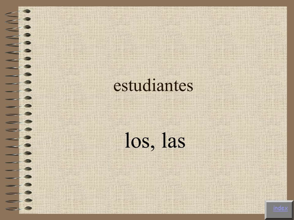 estudiantes los, las index