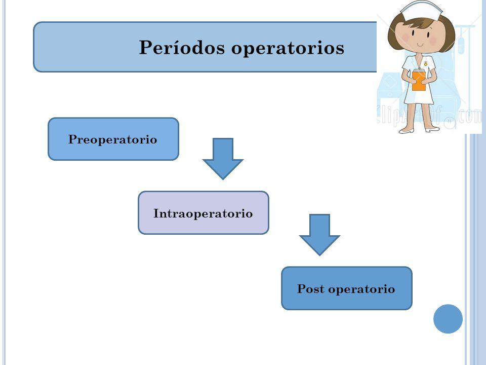 Períodos post operatorio Post operatorio Inmediato Mediato
