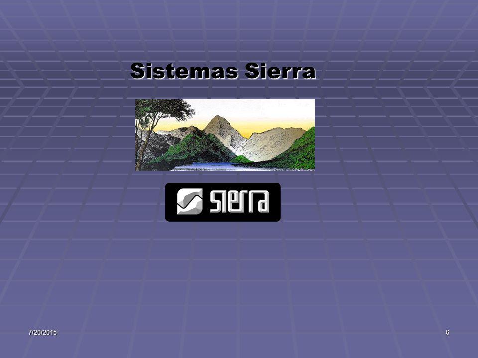 7/20/20156 Sistemas Sierra