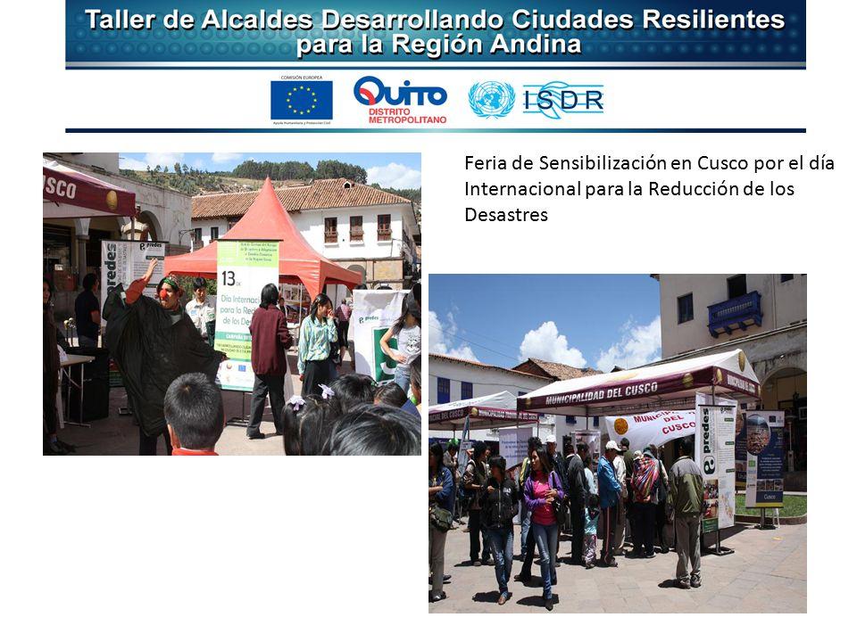 Feria de Sensibilización en Cusco por el día Internacional para la Reducción de los Desastres