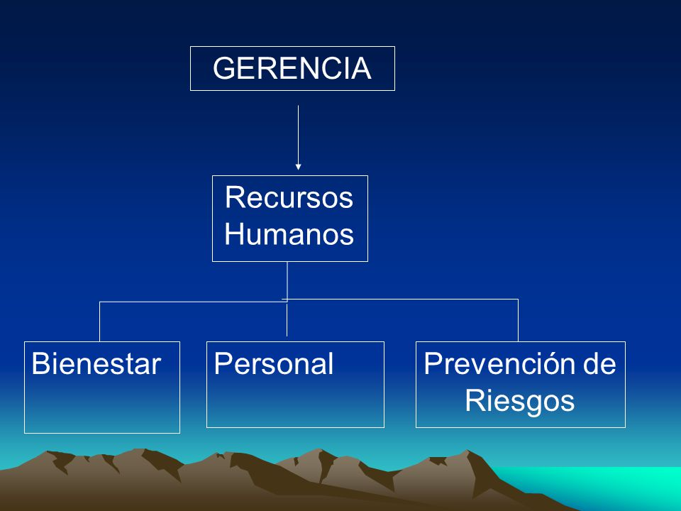 Recursos Humanos PersonalBienestarPrevención de Riesgos GERENCIA