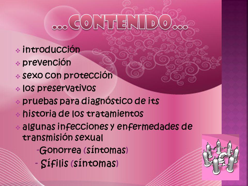 - Papiloma humano (síntomas) -Sida (síntomas, vías de transmisión)  Listado de its - Primeras its reconocidas - its mas recientemente reconocidas  Infecciones transmitidas por transmisión sexual.