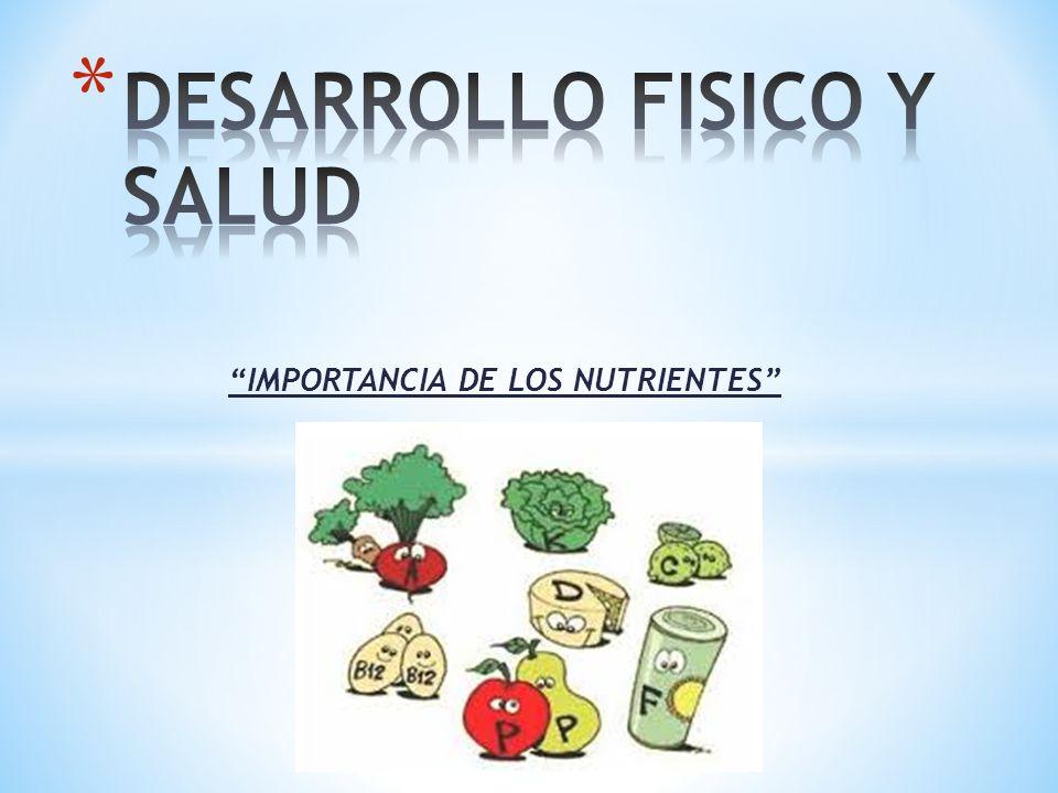 """""""IMPORTANCIA DE LOS NUTRIENTES"""""""