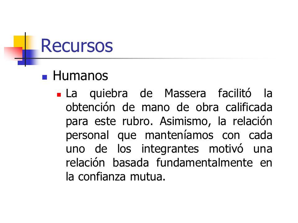 Recursos Humanos La quiebra de Massera facilitó la obtención de mano de obra calificada para este rubro.