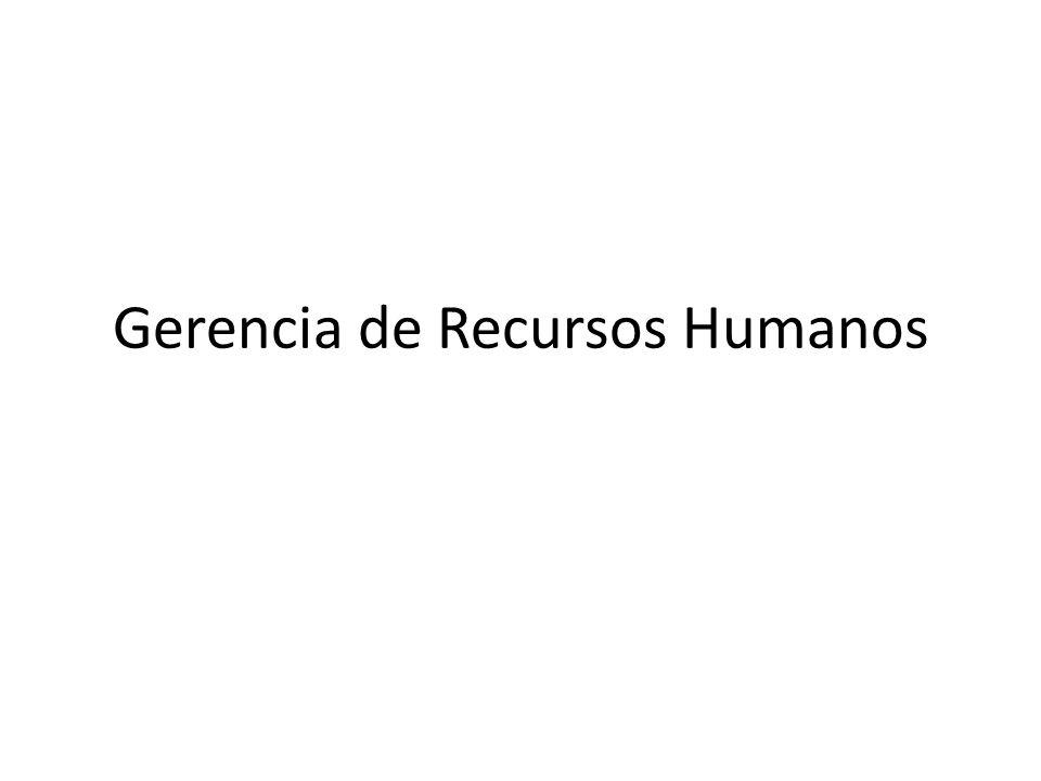 Gerencia de Recursos Humanos