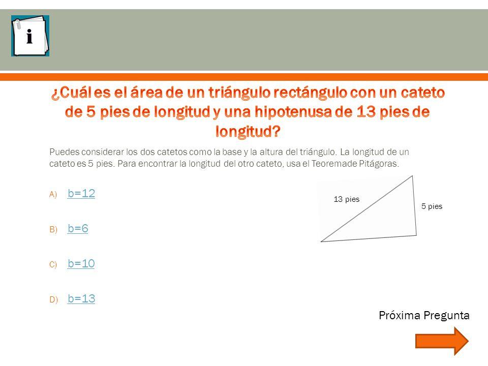 Puedes considerar los dos catetos como la base y la altura del triángulo.