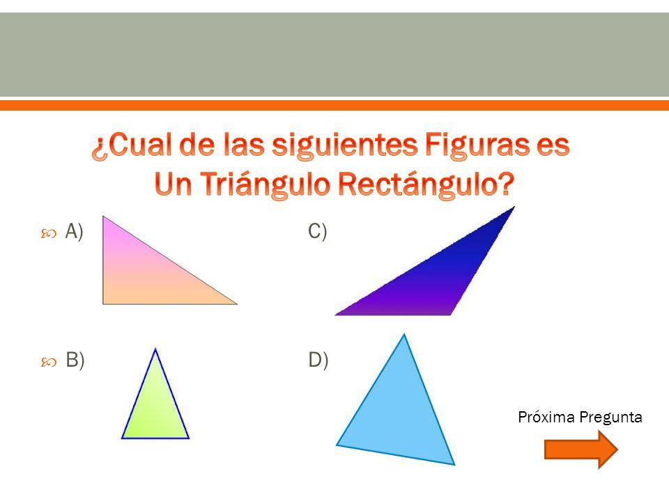  A)C)  B)D) Próxima Pregunta