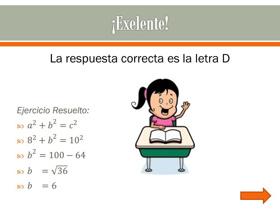 La respuesta correcta es la letra D