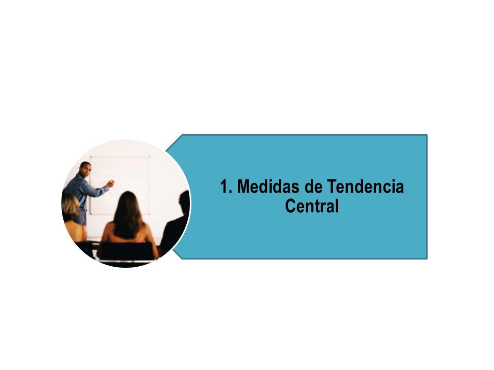 Calcular e interpretar los indicadores de tendencia central: Media aritmética, mediana y moda.
