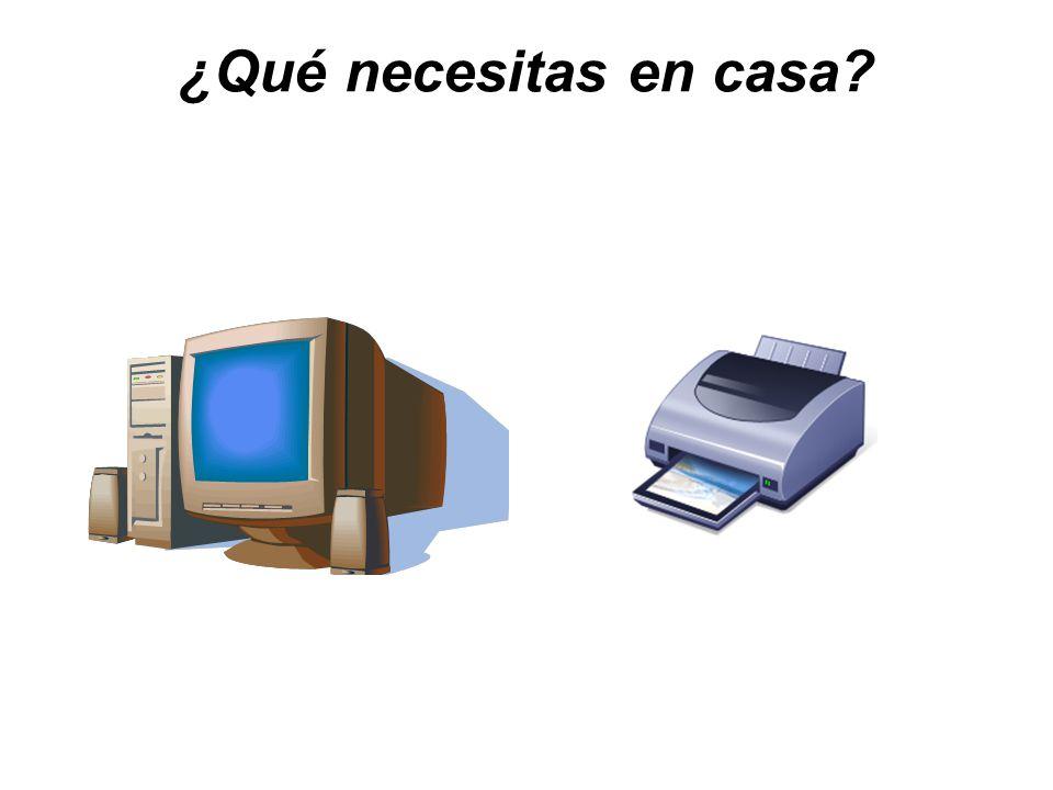 ¿Qué necesitas en casa?