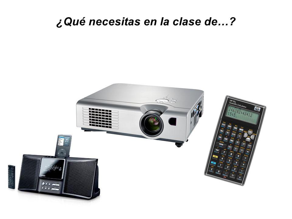¿Qué necesitas en la clase de…?