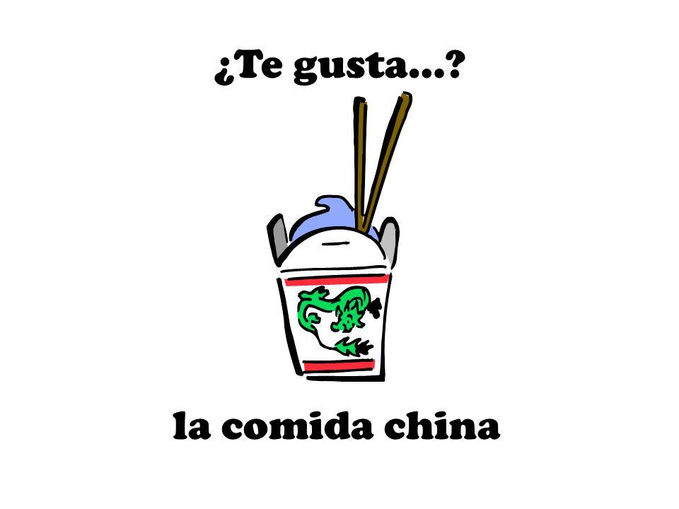 la comida china ¿Te gusta…