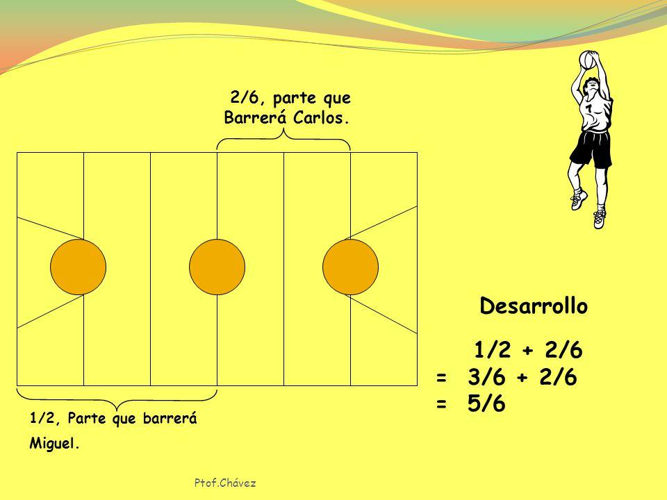 Miguel barrerá 1/2 de la cancha de baloncesto y Carlos 2/6.