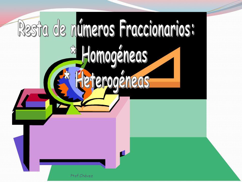 d) 1/5 + 3/7 = 7 + 15 35 = 22 35 e) 3/4 + 1/5 + 3/10 = 15 + 4 + 6 20 = 25 20 = 5454 5 4 Ptof.Chávez