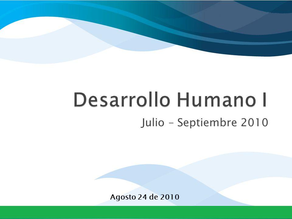 Julio – Septiembre 2010 Agosto 24 de 2010